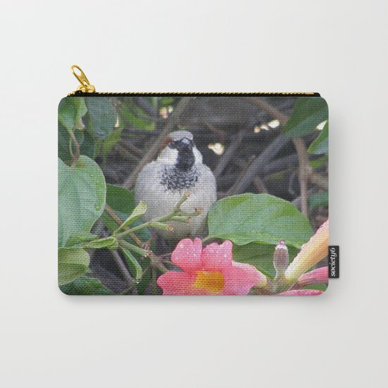 Sparrow in the Vine Carry-All Pouch