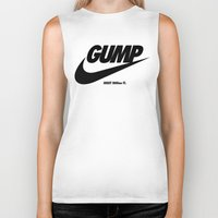 forrest gump Biker Tanks featuring Gump Just Do It by IIIIHiveIIII