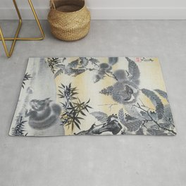 Squirrels Gathering Chestnuts - Digital Remastered Edition Rug