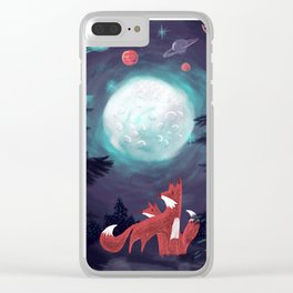 Clever Fox's Tales about the Universe Clear iPhone Case