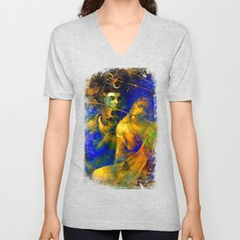 Shiva The Auspicious One - The Hindu God Unisex V-Neck