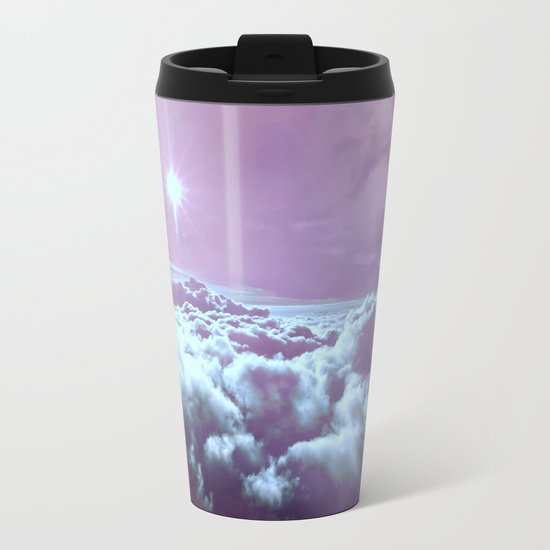 Mystic Clouds Lavender Aqua Metal Travel Mug