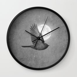 Night Bird Wall Clock