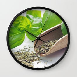 Basil herbs for kitchen Wall Clock