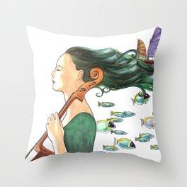 Sofia (Cello) Throw Pillow