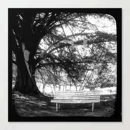 The Park Bench - Through The Viewfinder (TTV) Canvas Print