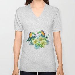 Tropical toucans Unisex V-Neck