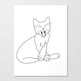 Time Fur a Cat Nap Canvas Print