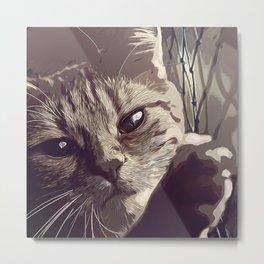 set your cat free vector art natural Metal Print