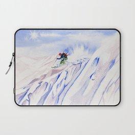 Powder Skiing Laptop Sleeve