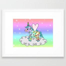 Rainbow The Unicorn and the Rainbow Framed Art Print