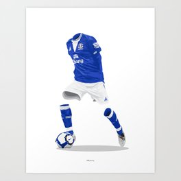 Everton 2009/10  Art Print
