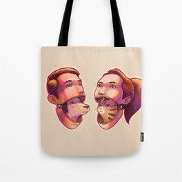 dog people vs cat people Tote Bag