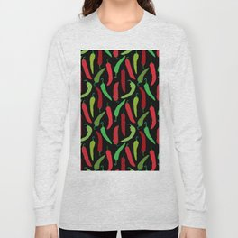 New Mexico Christmas Hatch Chiles in Black Long Sleeve T-shirt