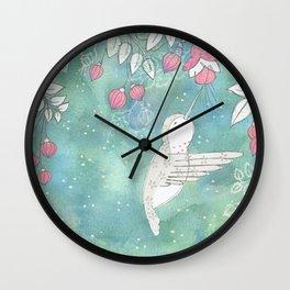 Hummingbird's Garden: In the fuschias Wall Clock