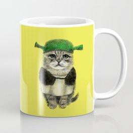 Shreky Cat Coffee Mug