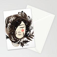 Night floresta girl Stationery Cards