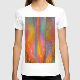 Industrial Wings Deep Sunset Colors T-shirt