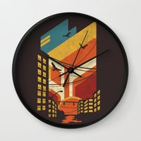 street Wall Clocks featuring Street by The Child