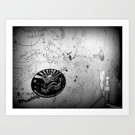 The writing is on the wall Art Print