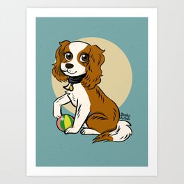 Lovely cavalier Art Print