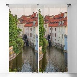 Water Mill, Kampa Island, Prague, Czech Republic Blackout Curtain