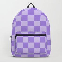 Lavender Check Backpack