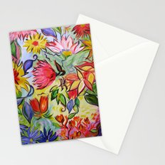 Pastel Flower Swirls Stationery Cards