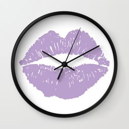 Lavender Lips Wall Clock