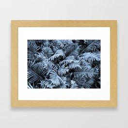 Fern | Sapphire | Deep Blue Botanical Art Framed Art Print