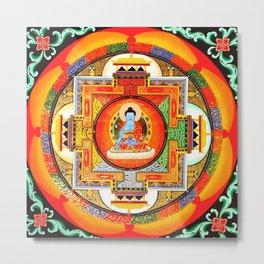 Buddhist Healing Mandala Metal Print