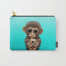 Cute Baby Monkey With Football Soccer Ball Carry-All Pouch