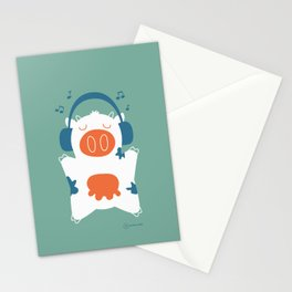Music cow Stationery Cards
