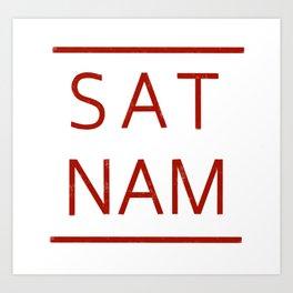 Sat Nam #RED Art Print