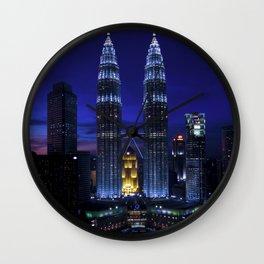 Petronas Towers in Kuala Lumpur, Malaysia Wall Clock