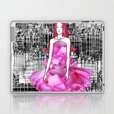 My rose dress fashion illustration concept. Laptop & iPad Skin