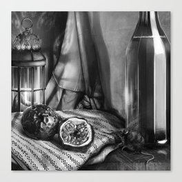 Passion Fruit & Shrew Canvas Print