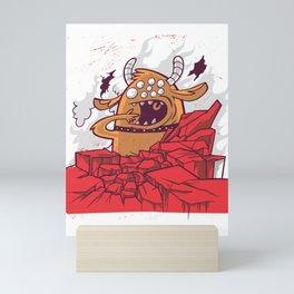 Big monster with many eyes Mini Art Print