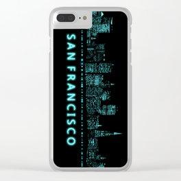 Digital Cityscape: San Francisco, California Clear iPhone Case
