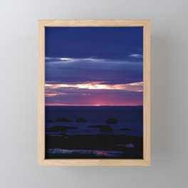 Purple Glow at Sunset Framed Mini Art Print