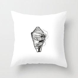 Shell, Sea Art, Ocean Art, Shell Art Throw Pillow