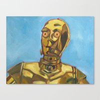 c3po Canvas Prints featuring C3PO by Dani Brandimarte