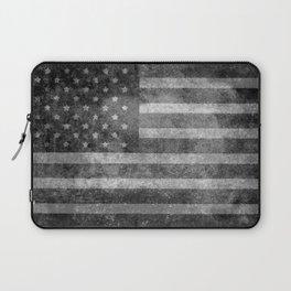 US flag, Old Glory in black & white Laptop Sleeve