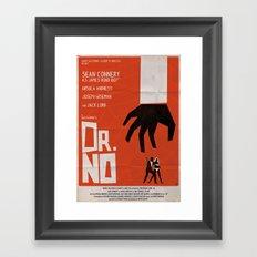 Orange Dr No Framed Art Print