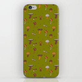 Mushrooms Green iPhone Skin