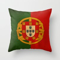 portugal Throw Pillows featuring Portugal by NicoWriter