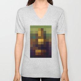 Pixel Art Unisex V-Neck
