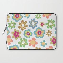 Retro 60s Hippie Flowers Laptop Sleeve