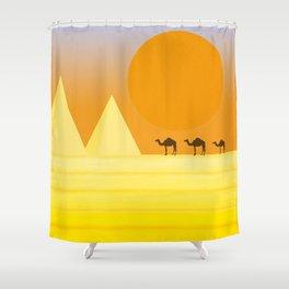 In the desert... Shower Curtain