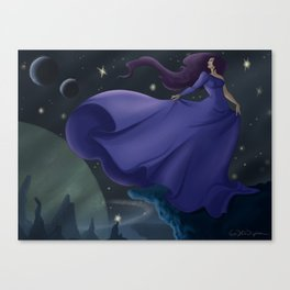 Space Lady Canvas Print